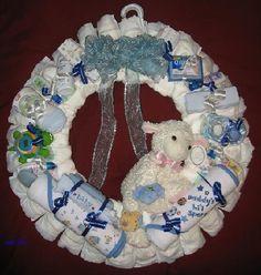 diaper cakes wreaths