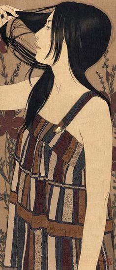 "Contemporary Japanese Artist Yasunari Ikenaga. Contemporary Japanese Artist Yasunari Ikenaga He creates his art by dropping Japanese paints into the canvas that he calls ""linen cloth"", with a Menso brush"