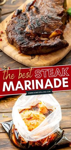 The BEST Steak Marinade that makes tender, juicy, flavorful steaks perfect for summer dinner! It is quick and easy, made with pantry staples you probably already have on hand. Make delicious grilled steaks for a main dish everyone will love! Steak Marinade Best, Best Steak, How To Grill Steak, Easy Main Dish Recipes, Easy Recipes, Dinner Recipes, Summer Grilling Recipes, Summer Recipes, Kabob Recipes