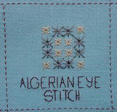 Steek 7, Algerian eye stitch / stersteek