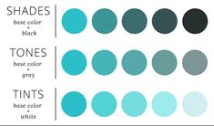 Building a monochromatic palette out of shades, tones, and tints results in a versatile spectrum with color options for every part of your design. Monochromatic Color Scheme, Colour Schemes, Monochrome Color, Colour Combinations, Colour Palettes, Shades Of Green Names, Turquoise Eyeshadow, Web Design, Graphic Design