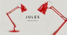 Jules Desk Lamp in shiny red