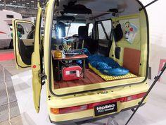 The interior of the retro Hobio Flex Concept from Honda