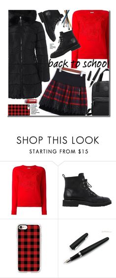 """School"" by beebeely-look ❤ liked on Polyvore featuring Kenzo, Giuseppe Zanotti, Casetify, Fountain, BackToSchool, plaid, schoolstyle, sammydress and backpacks"