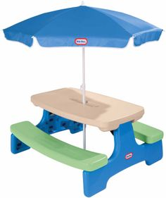 Little Tikes Easy Store Jr. Table with Umbrella - Free Shipping