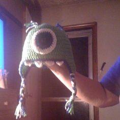 Mike Wazowski Monster Inc. crochet hat