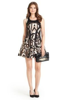 Raelin Leopard Print Fit and Flare Dress