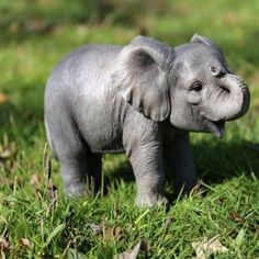 This Baby Elephant Statue will enhance your home or garden. His playful realistic appearance will attract many onlookers. A creative gift for family or friend. Baby Animals Super Cute, Cute Little Animals, Cute Funny Animals, Cute Dogs, Tiny Baby Animals, Newborn Animals, Cutest Animals, Animals In The Wild, Animals Dog