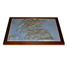 Framed Southern Scotland Raised Relief Map