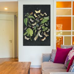 """East Urban Home Butterfly Bouquet III Graphic Art on Wrapped Canvas Size: 18"""" H x 12"""" W x 1.5"""" D"""
