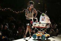 Baby Stroller Dia de Los Muertos style