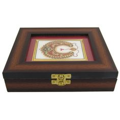 Fashion Jewelry Online Wooden Box with Indian Art on Marble, Mothers Day Gift - Jewelry Boxes & Organizers