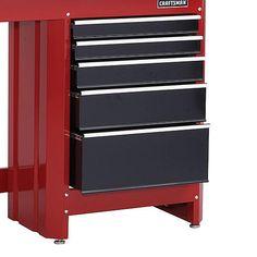 Craftsman 5-Drawer Workbench Module - Red/Black