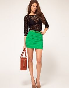 What to wear with a green mini skirt – Modern skirts blog for you