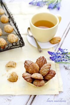 Lemon Madeleines and white tea  (recipe)
