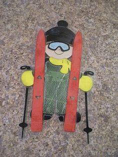 Winter Skiing Boy Cricut Doll