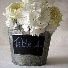 Blackboard Bucket...table number idea