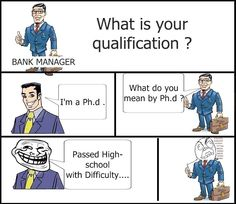 What is your qualification? i'm a Ph.d.