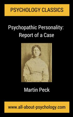 FREE ON KINDLE: TODAY ONLY! 18th October 2014. Click Here --> www.amazon.com/dp/B00OHHTRSS or go to the Amazon website in your country and type B00OHHTRSS into the search box. A fascinating historical account, Psychopathic Personality: Report of a Case was originally presented as a paper by Dr. Martin Peck at a meeting of the Boston Society of Neurology and Psychiatry, on November 17th, 1921. #psychology