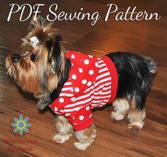 DIY Pets Crafts : DIY Dog Clothes PDF Sewing Pattern Small Dog
