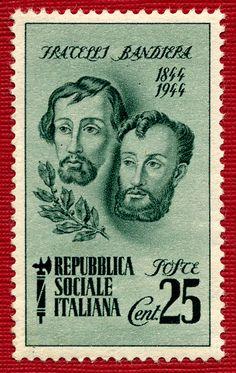 un francobollo dei fratelli Bandiera