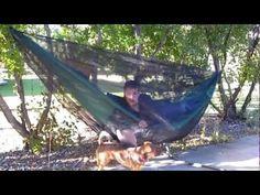How to make a hammock bugnet - YouTube
