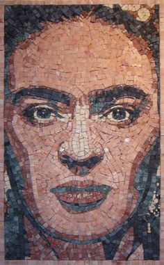 Mary Read an architect, painter and mosaicist, was inspired by the native charm and beauty of Frida Kahlo.