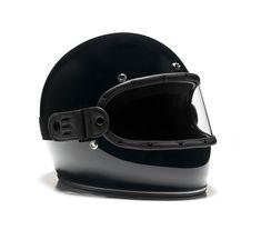 GLOSS BLACK // KNOX HELMET SET - The Equilibrialist Motorcycle Helmets, Riding Helmets, Vintage Helmet, Custom Helmets, Cafe Racer Build, Full Face Helmets, Black Flats, Leather, Lovers