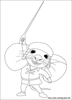 The tale of Despereaux coloring picture