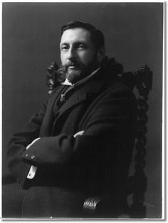 """H. Rider (Henry Rider) Haggard, 1856-1925  Wrote """"King Solomon's Mines"""" which is a roaring adventure yarn if there ever was one."""