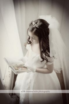 a beautiful pose idea for my son's rechristening pics as Emily Grace First Communion Veils, First Holy Communion, Communion Hairstyles, Children Photography, Photography Ideas, Portrait Photographers, Girl Hairstyles, Special Events, Picture Ideas