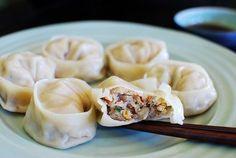 Korean mandu and mandu recipe. Mandu are Korean dumplings. Mandu is a must-have during Lunar New Year. Easy Mandu recipe made with kimchi.   rasamalaysia.com