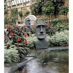 Garden Ornaments From Design Toscano, Illinois Unusual Garden Ornaments,  Lawn Ornaments, Easter Island