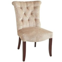 Colette Sandshell Dining Chair with Espresso Wood