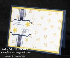 Different Ways to Use Your Embossing Folders  Big Shot, Lucky Stars Embossing Folder, Holiday Mini Catalog, Petite Pairs Stamp Set, Color Organza Ribbon, Decorative Label Punch www.LaurasStampPad.com