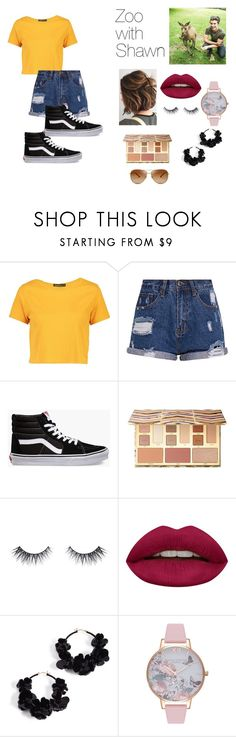"""""""Zoo with Shawn Mendes"""" by kaelyn-quessenberry on Polyvore featuring Boohoo, Vans, Sephora Collection, Huda Beauty, Oscar de la Renta, Olivia Burton and Tory Burch"""