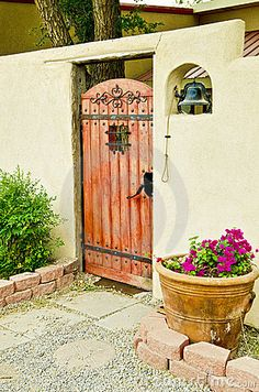 Courtyard entry with & bell - a familiar sight in the Southwest