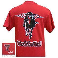 Texas Tech Raiders Logo Chevron Girlie Bright T Shirt