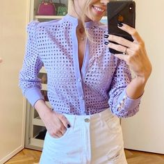 Cute Blouses, Blouses For Women, Modest Fashion, Fashion Outfits, Womens Fashion, Frock Design, White Cotton, Frocks, Formal