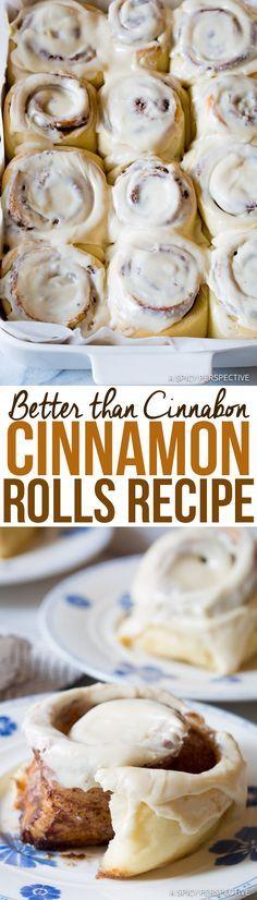 "Amazing ""Better than Cinnabon"" Cinnamon Rolls Recipe | ASpicyPerspective.com"