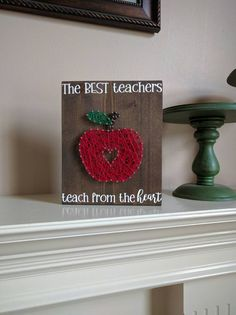 Teacher Gift apple string art