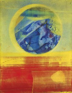 Max Ernst ~ Marriage of Heaven and Earth: Variation in Blue and Red, 1962 (oil)