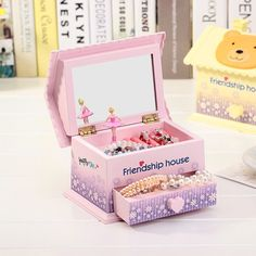 Lovely house shape music box Girls jewelry box music box Christmas birthday gift jewelry Storage Box CR-999