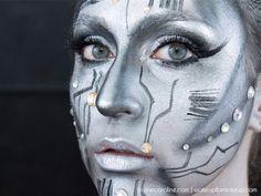 Halloween Makeup: Power Up This Robotic Look: Complex