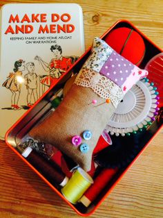 Betty Buttons: Zarka Style Pincushion as Mother's day gift with sewing emergency kit.