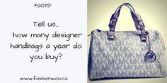 Instagram post for @fashionwoo.ca  #michaelkorsbag #preowned #authentic #onlinestore Best Instagram Posts, Michael Kors Bag, Designer Handbags, Reusable Tote Bags, Stuff To Buy, Designer Bags, Michael Kors Tote, Designer Purses, Michael Kors Satchel