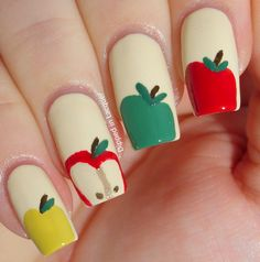 Dipped in Lacquer: Back to School Nail Art Challenge Day 1 - Apple For Teacher