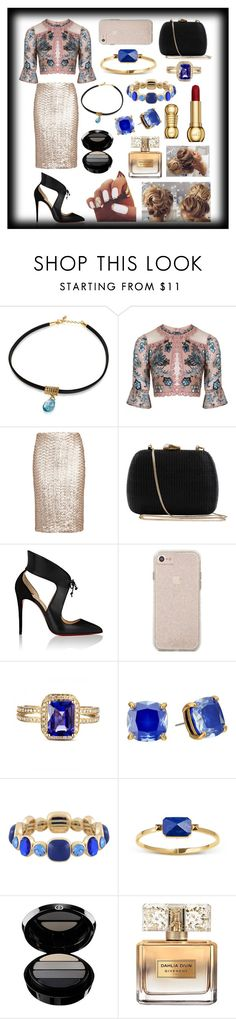 """Lady Akai-Bara Toge #1"" by sodenoshirayuki-kuran ❤ liked on Polyvore featuring For Love & Lemons, Alice + Olivia, Serpui, Christian Louboutin, Kate Spade, Monet, Ringly, Giorgio Armani and Givenchy"