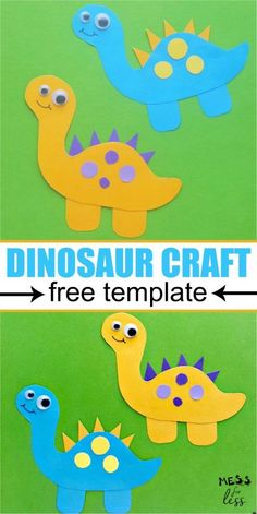 This dinosaur craft for kids is easy to make using the free template. Perfect for your little dino lover! This dinosaur craft for kids is easy to make using the free template. Perfect for your little dino lover! Dinosaur Crafts Kids, Dino Craft, Dinosaurs Preschool, Fox Crafts, Dinosaur Activities, Animal Crafts For Kids, Fun Crafts For Kids, Preschool Art, Toddler Crafts