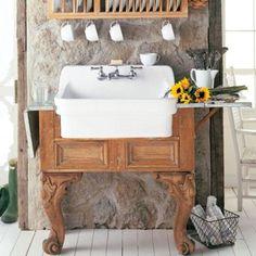 Country Kitchen Sink, Single Bowl Kitchen Sink, Farm Sink, Kitchen Sinks, China Kitchen, New Kitchen, Basin Design, Utility Sink, Wall Mount Faucet
